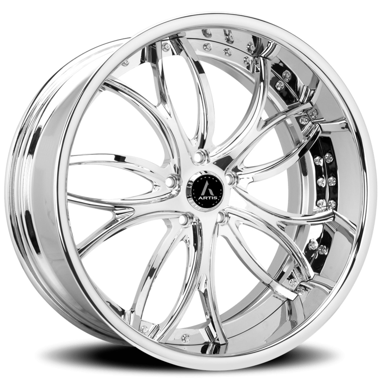 Artis Forged Biscayne wheel with Chrome finish