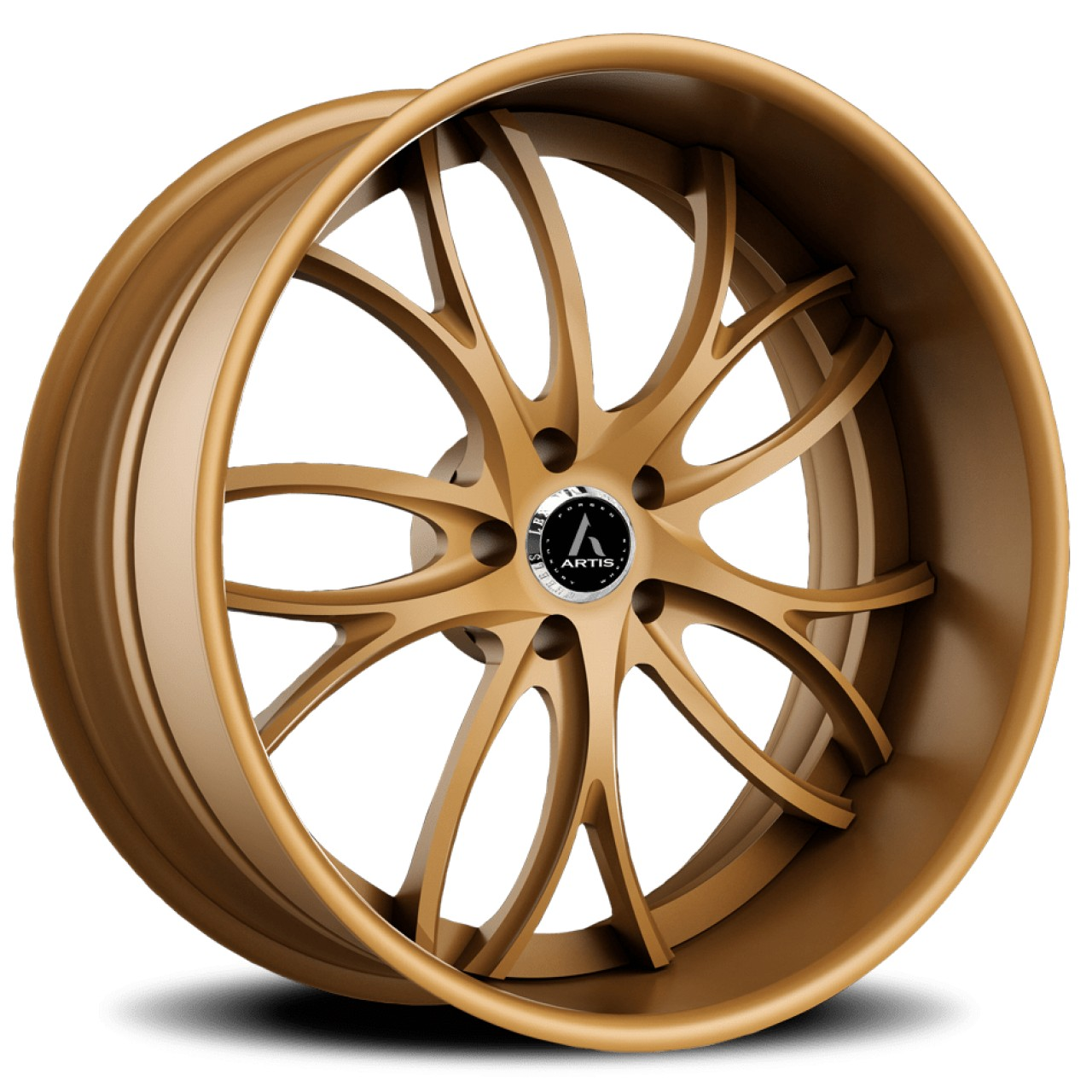 Artis Forged Biscayne wheel with Matte Bronze finish