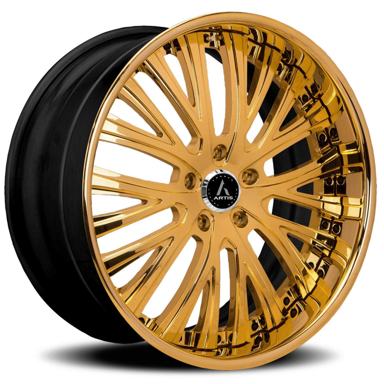Artis Forged Woodward wheel with Gold finish