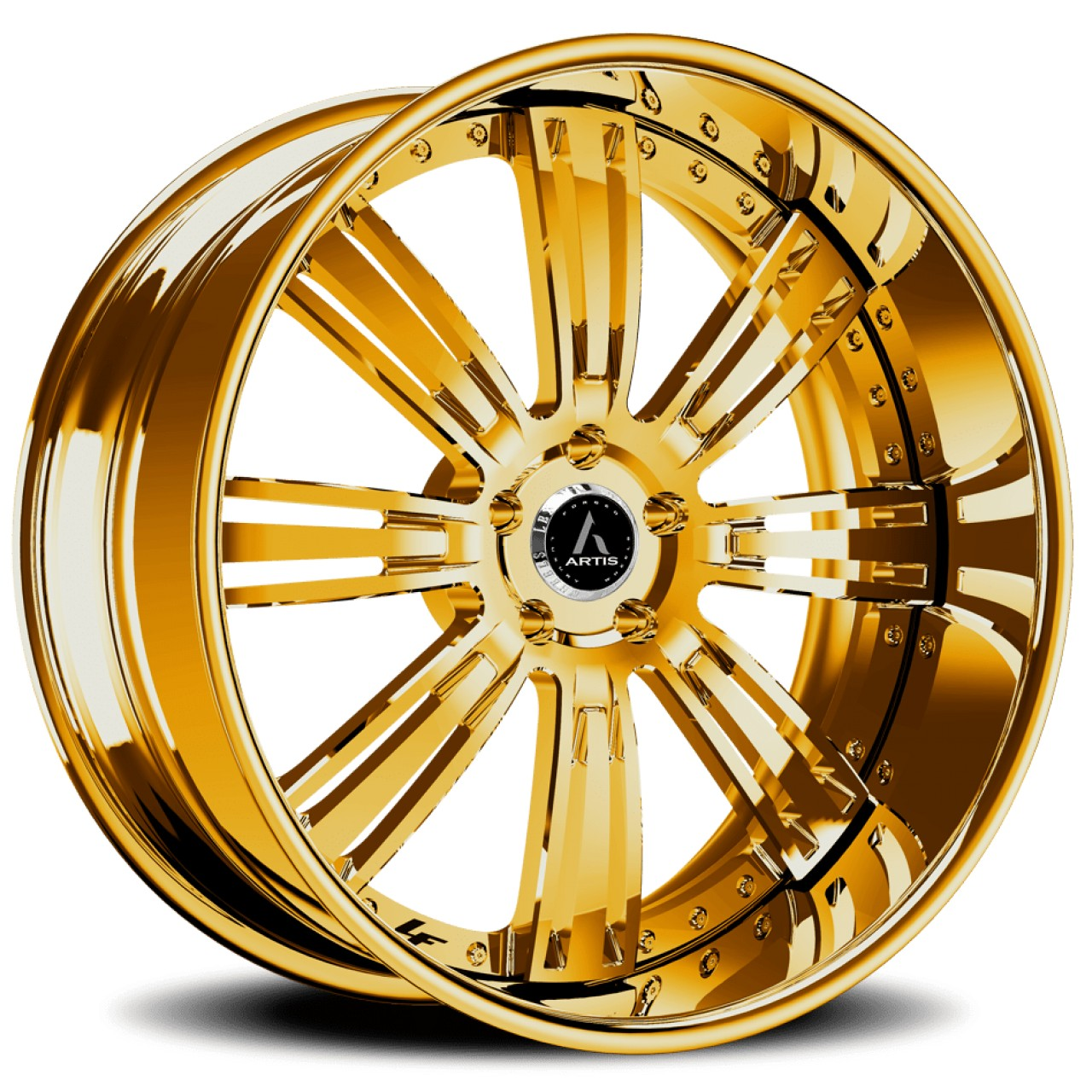 Artis Forged Grino wheel with Gold finish
