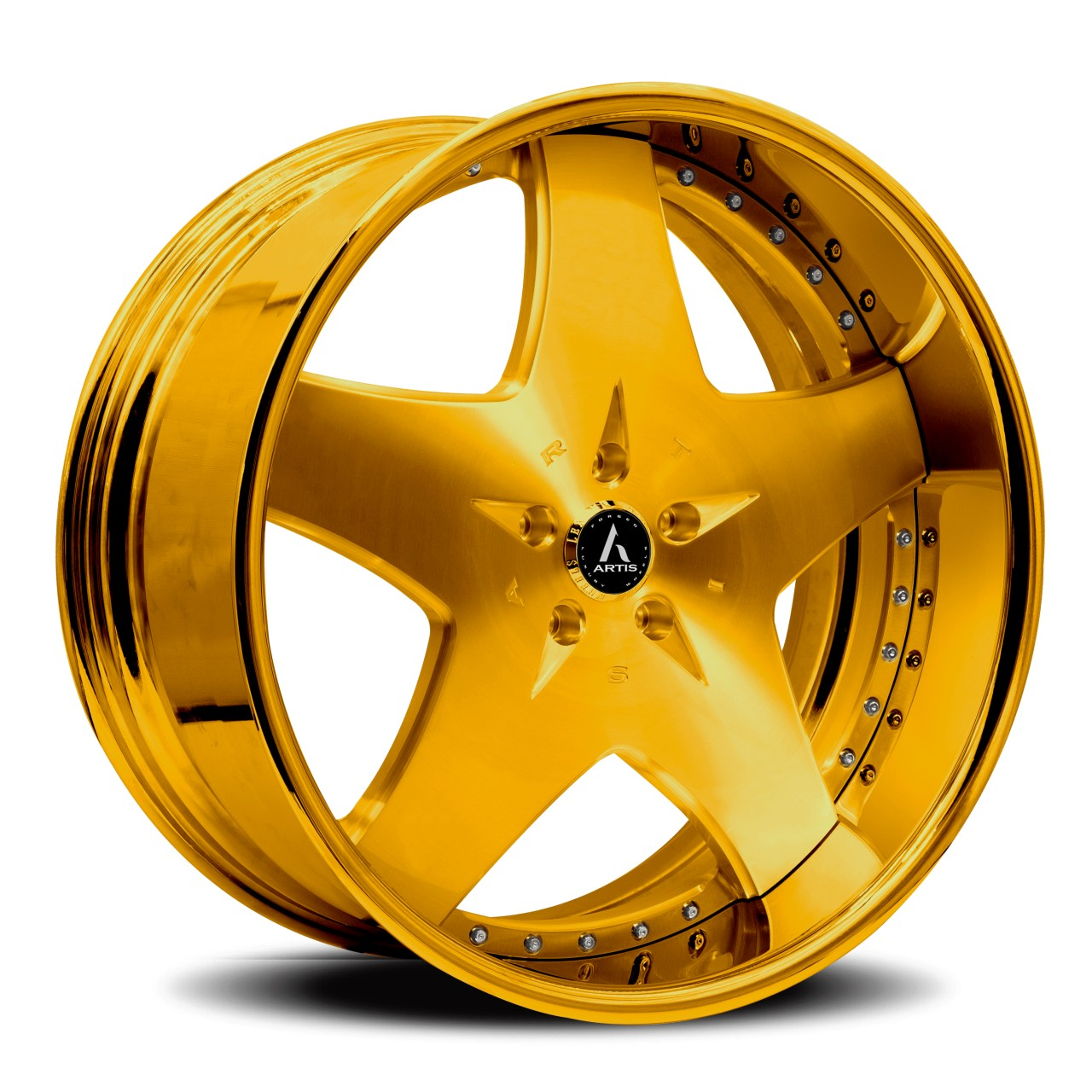 Artis Forged Cashville wheel with Gold finish