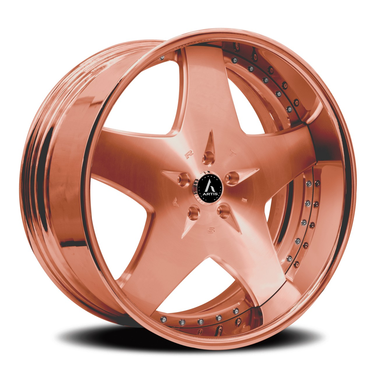 Artis Forged Cashville wheel with Rose Gold finish