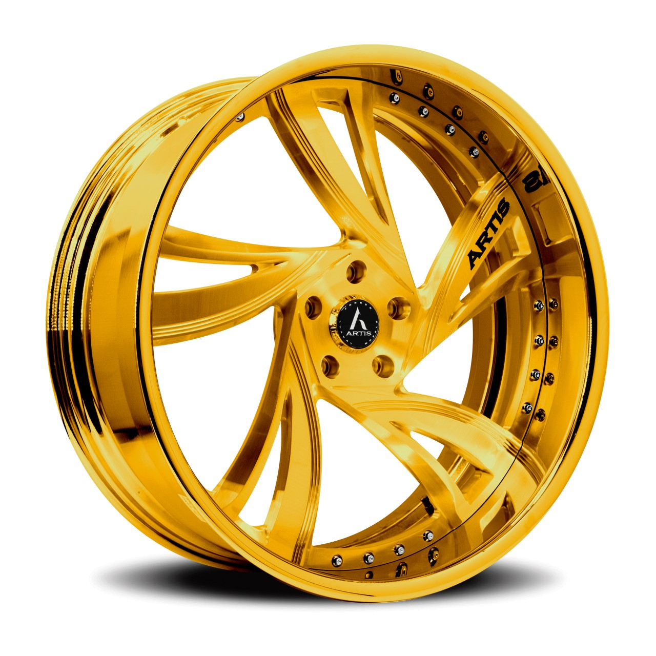 Artis Forged Kingston wheel with Gold finish