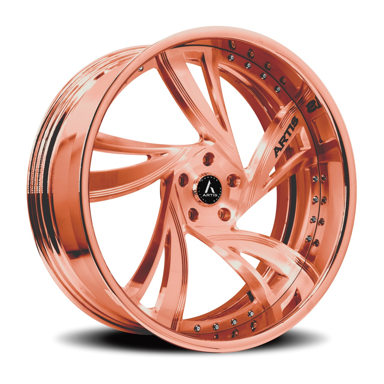 Artis Forged Kingston wheel with Rose Gold finish