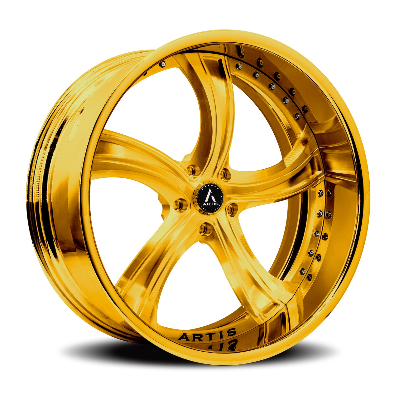 Artis Forged Kokomo wheel with Gold finish