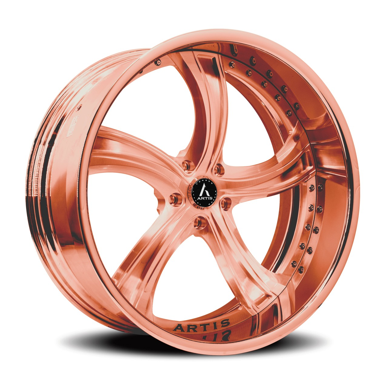 Artis Forged Kokomo wheel with Rose Gold finish