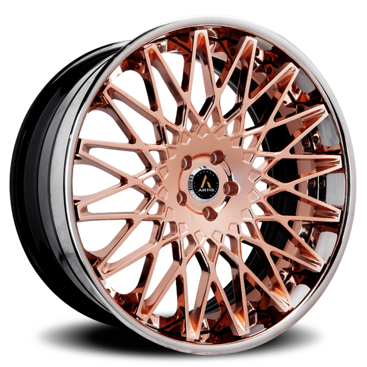 Artis Forged Monza wheel with Rose Gold finish